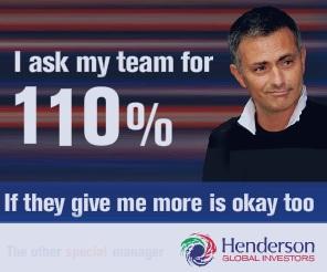 Mourinho inglés Henderson gestión de activos publicidad